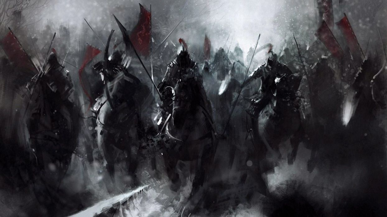 soldiers fantasy horses artwork troops wallpaper