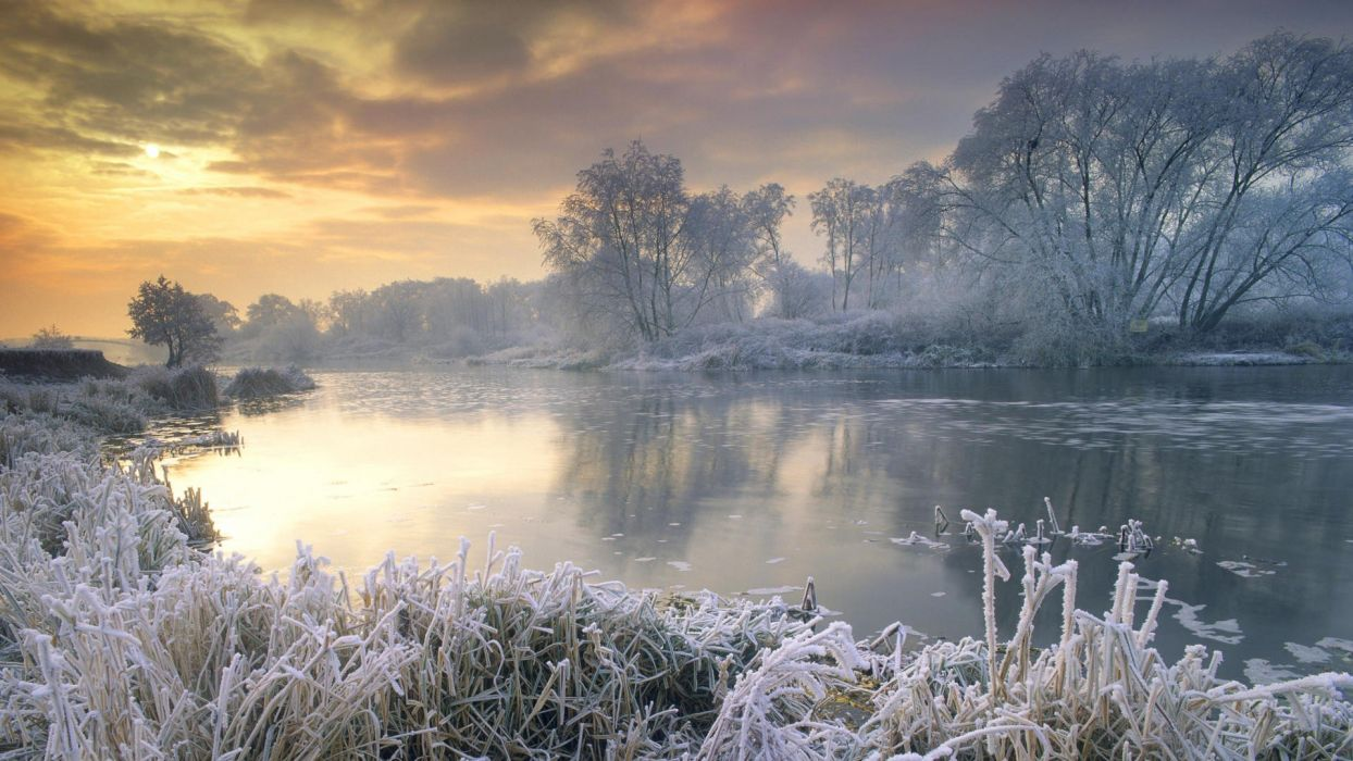 United Kingdom The River frost wallpaper