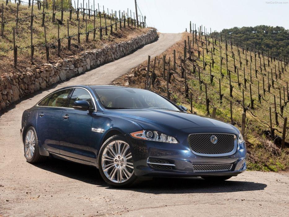 blue cars Jaguar XJ wallpaper