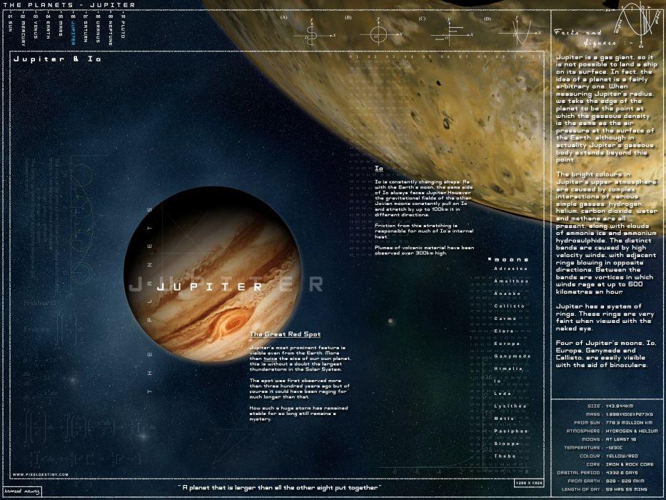 science Sun planets Jupiter wallpaper