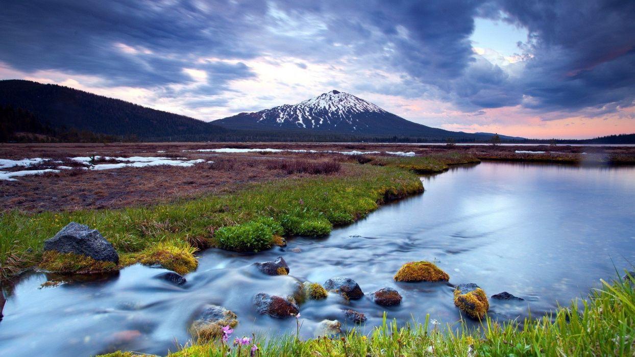 mountains landscapes nature lakes wallpaper