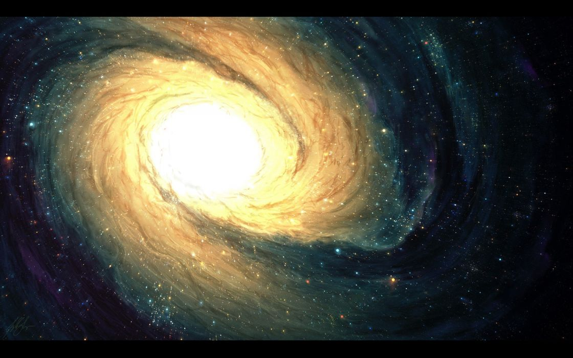 outer space stars galaxies astronomy Tyler Young wallpaper