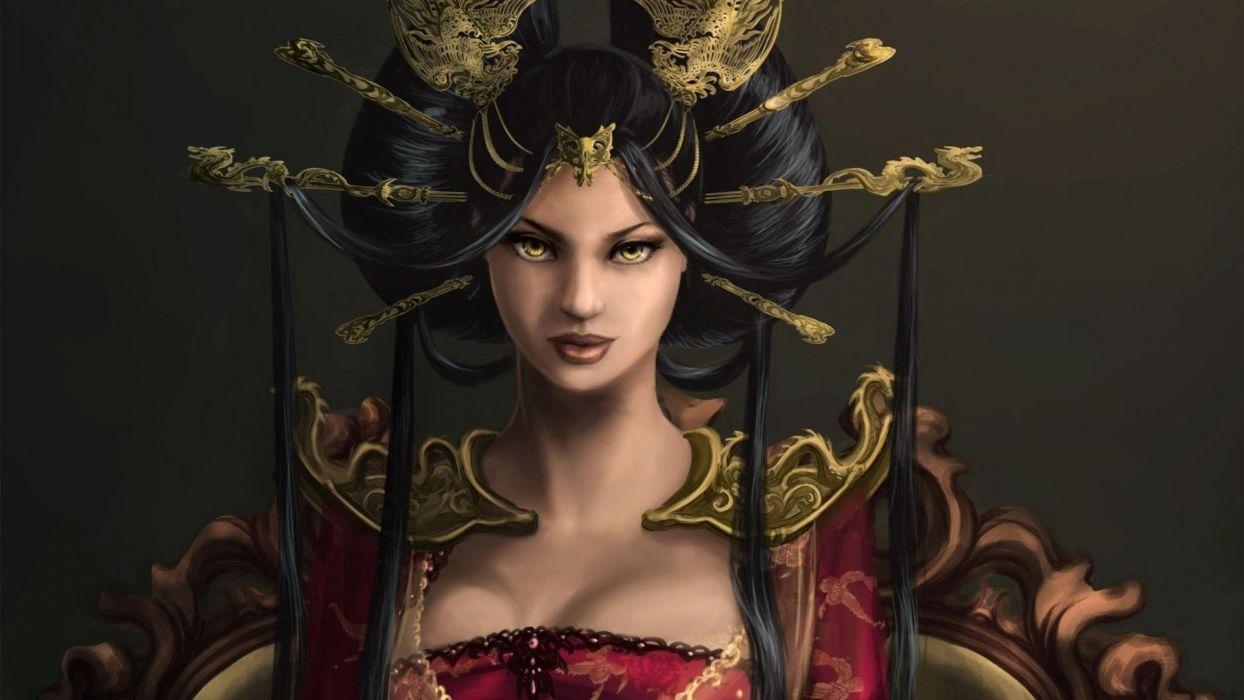 women Queen fantasy art artwork wallpaper