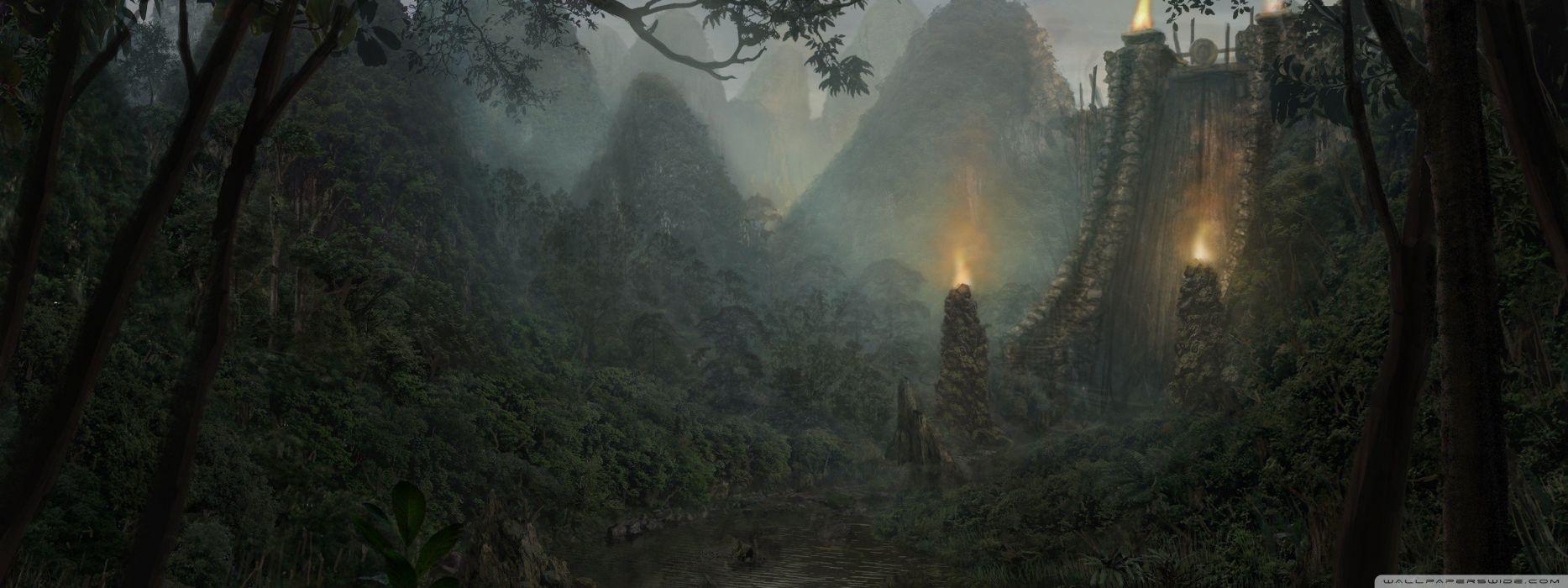 landscapes fantasy art wallpaper
