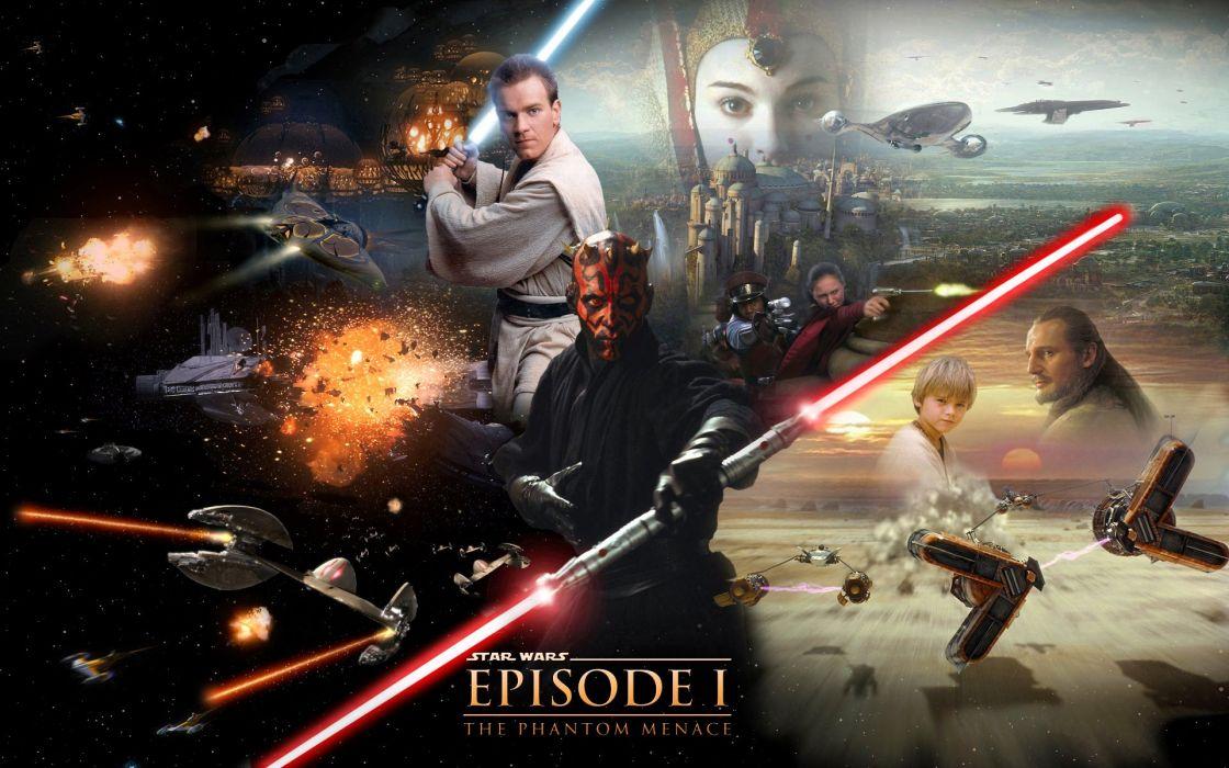 STAR WARS PHANTOM MENACE sci-fi futuristic action adventure (3) wallpaper