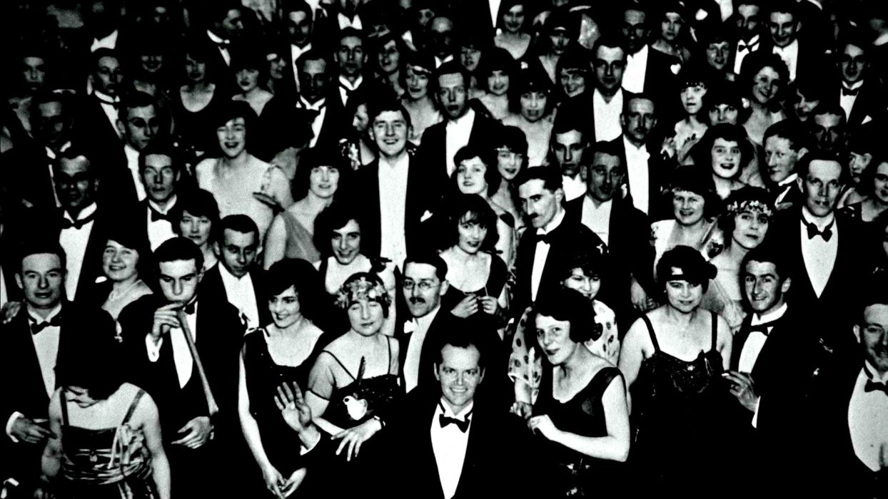THE SHINING horror thriller dark movie film classic crowd death ghost dead wallpaper