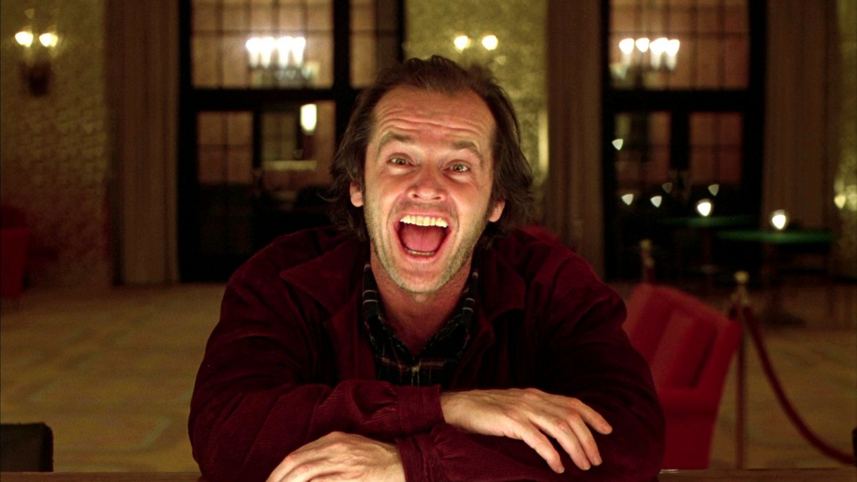 THE SHINING horror thriller dark movie film classic anarchy mood face look pov wallpaper