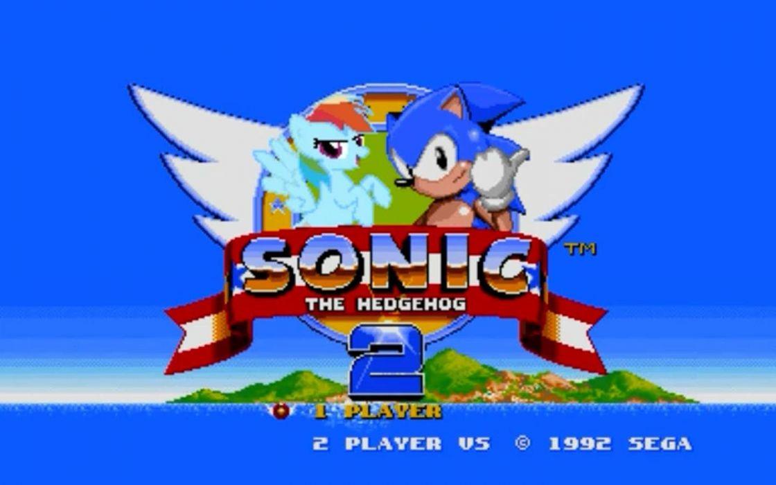 Sonic the Hedgehog sega genesis Rainbow Dash wallpaper