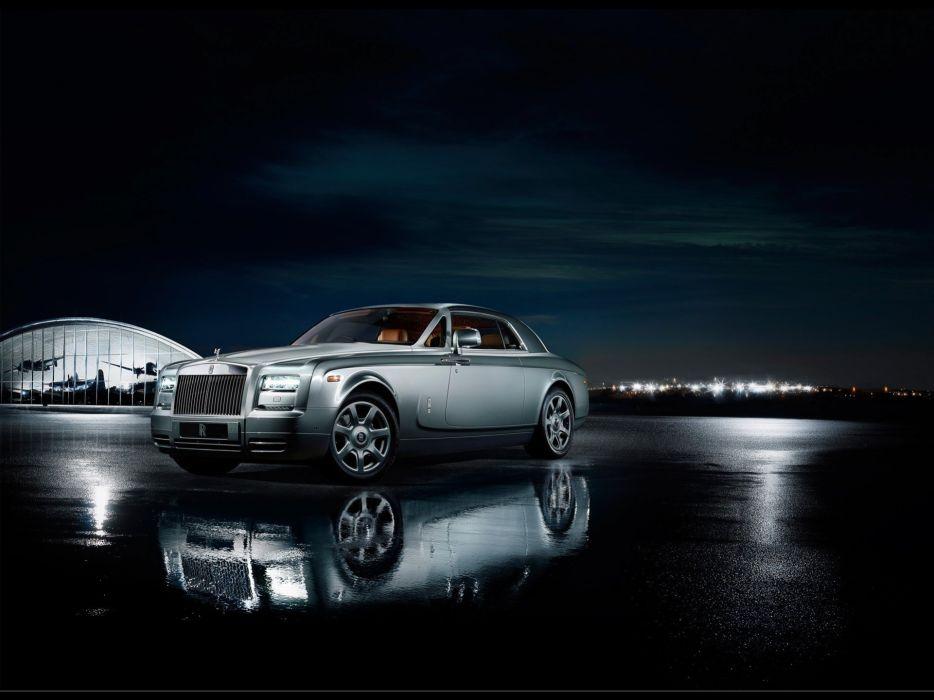 night lights supercars aviator coupe Rolls Royce static Rolls Royce Phantom citylights wallpaper