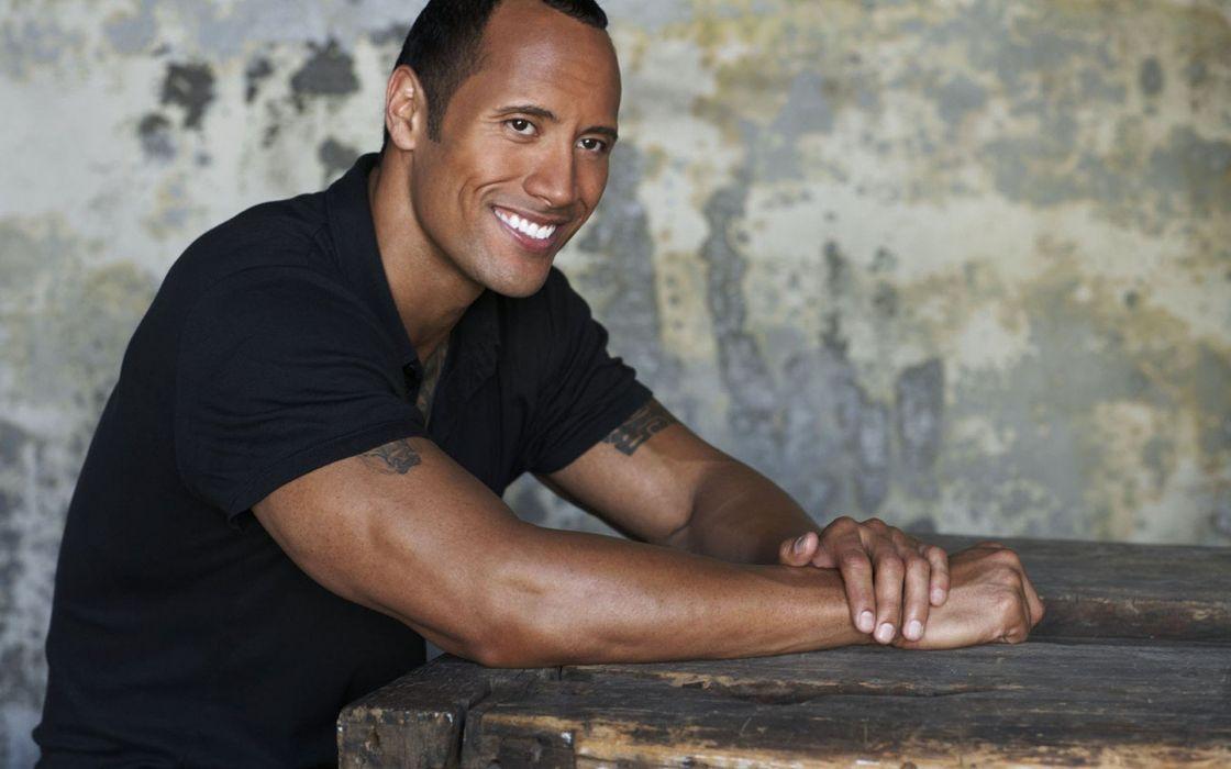 Men The Rock Smiling Dwayne Johnson Wallpaper 1920x1200 253476
