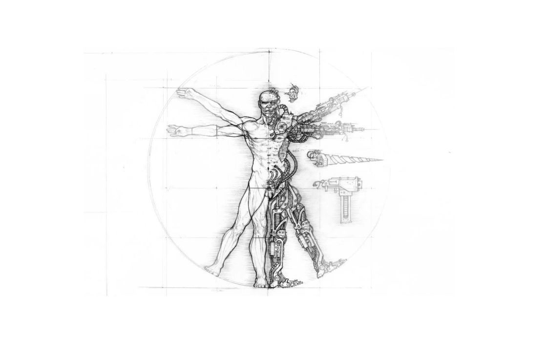 men Vitruvian Man Leonardo da Vinci wallpaper