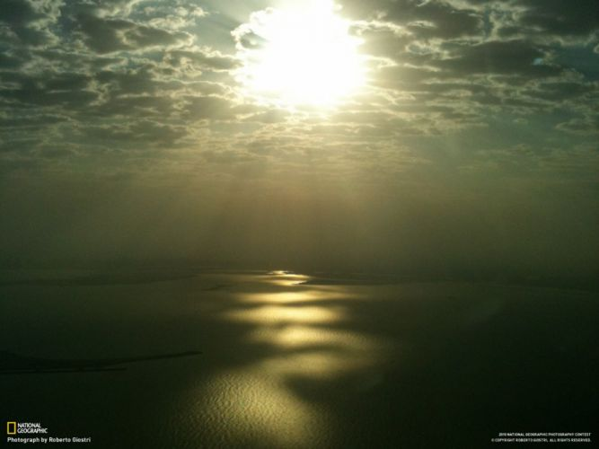 landscapes nature Dubai National Geographic sunlight aerial view wallpaper