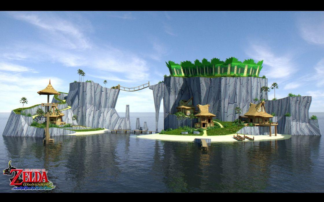 The Legend of Zelda The Legend of Zelda: The Wind Waker Outset Island wallpaper