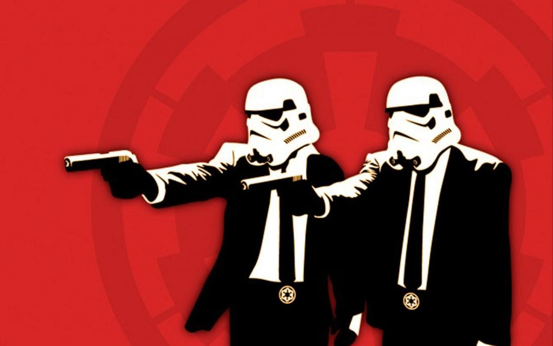 red stormtroopers Pulp Fiction wallpaper