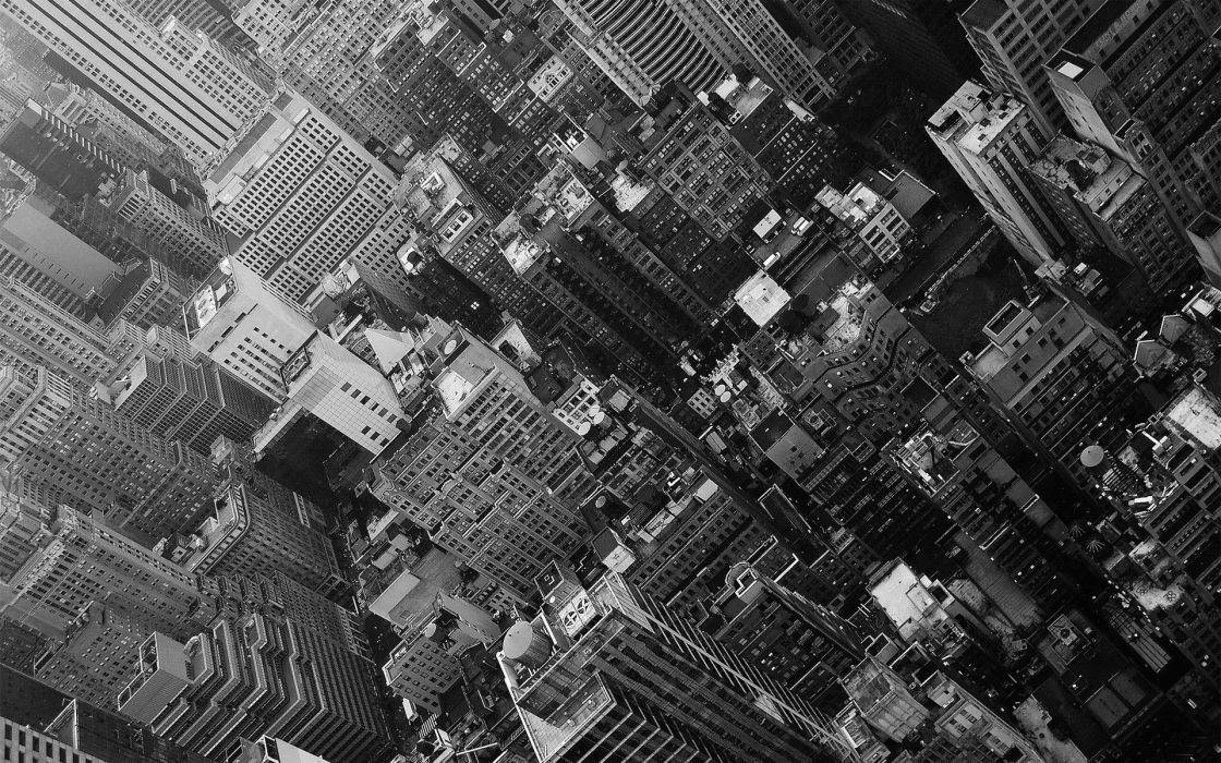 black and white cityscapes urban buildings towns wallpaper