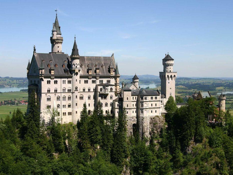 landscapes castles trees Neuschwanstein Castle wallpaper