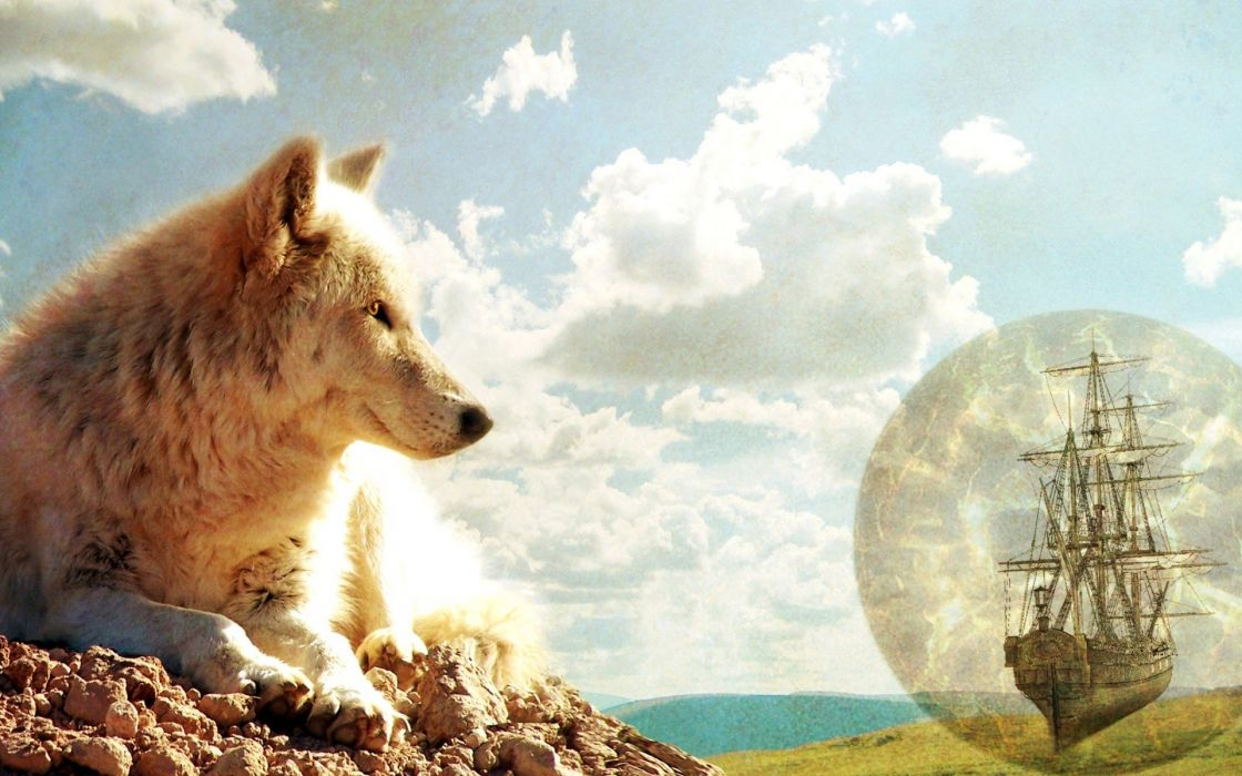 fantasy art digital art wolves Lemmy X wallpaper