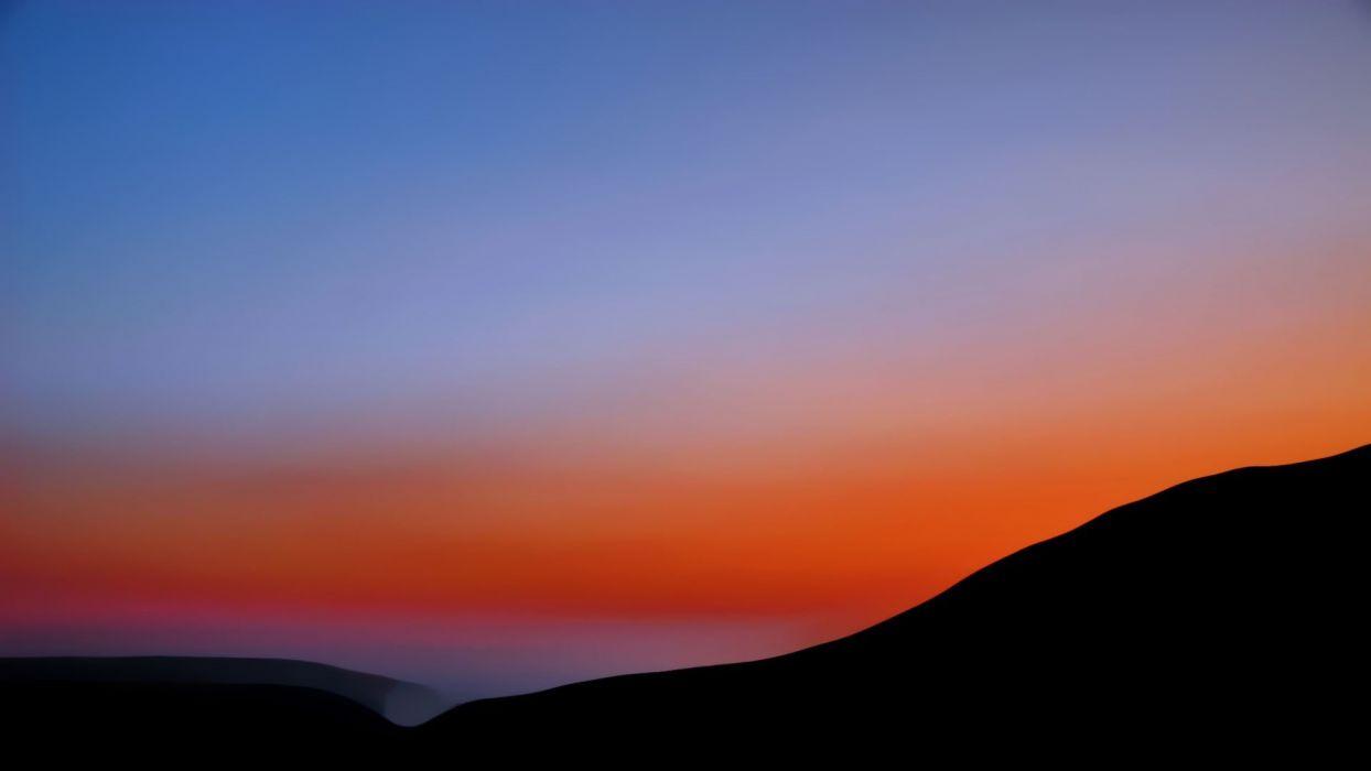Sun orange Greece mani effect skies big blue wallpaper