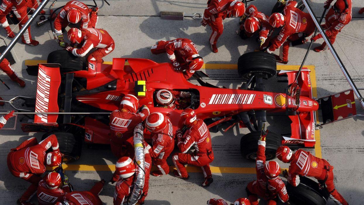 cars Ferrari Formula One pit-crew wallpaper