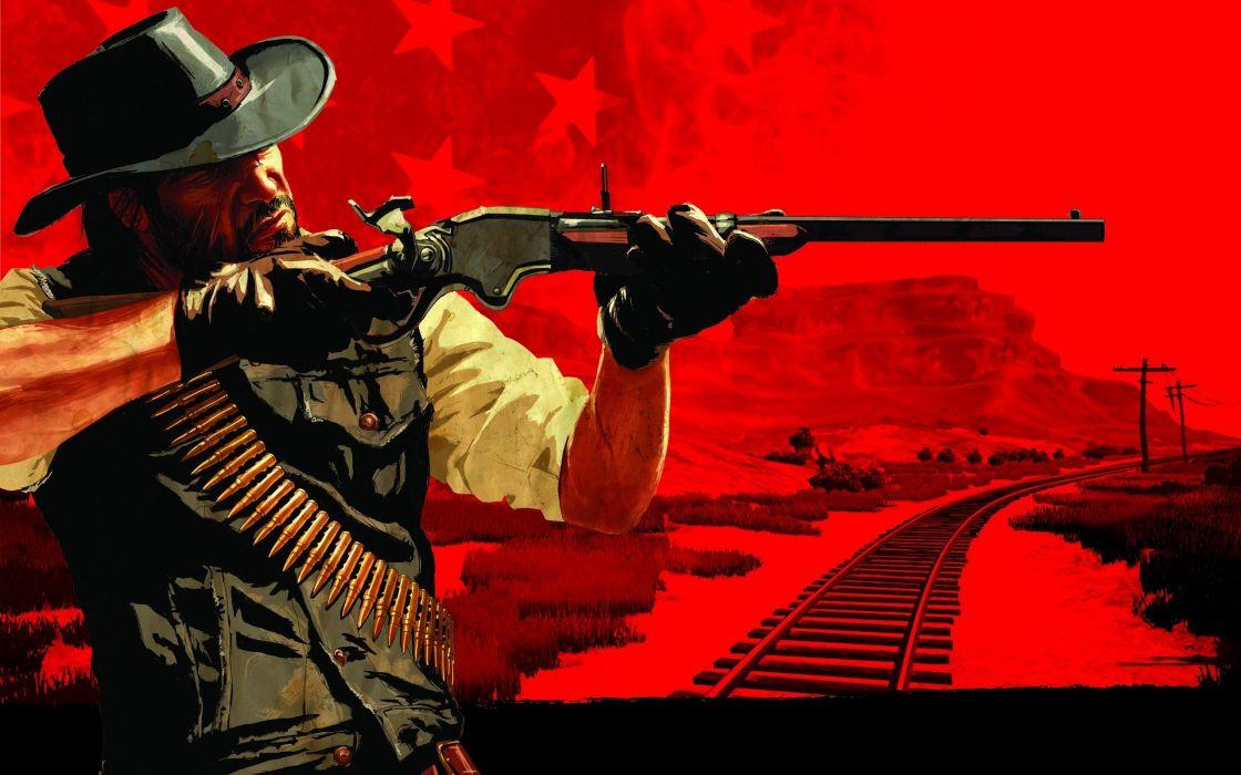 video games western Red Dead Redemption artwork wild west winchester wallpaper