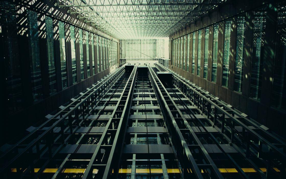 buildings elevators wallpaper