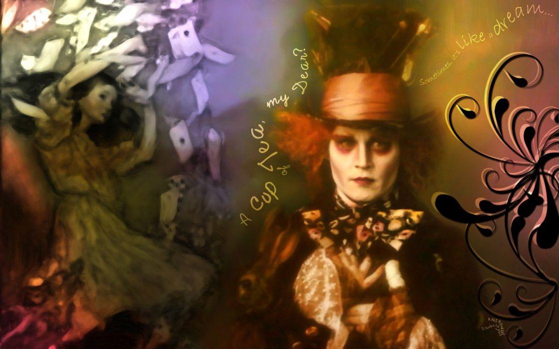 Alice in Wonderland Mad Hatter Johnny Depp wallpaper