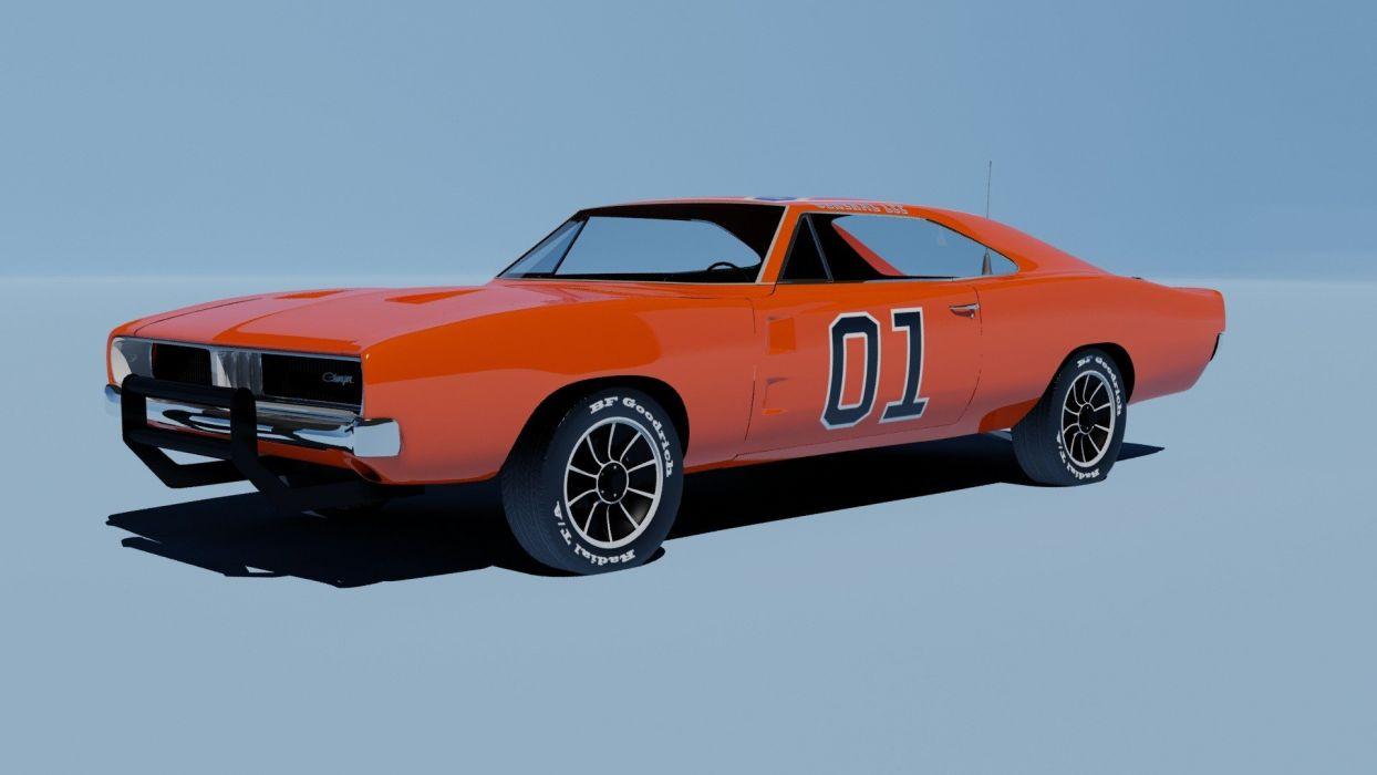 cars Dodge Charger R/T General Lee orange cars wallpaper