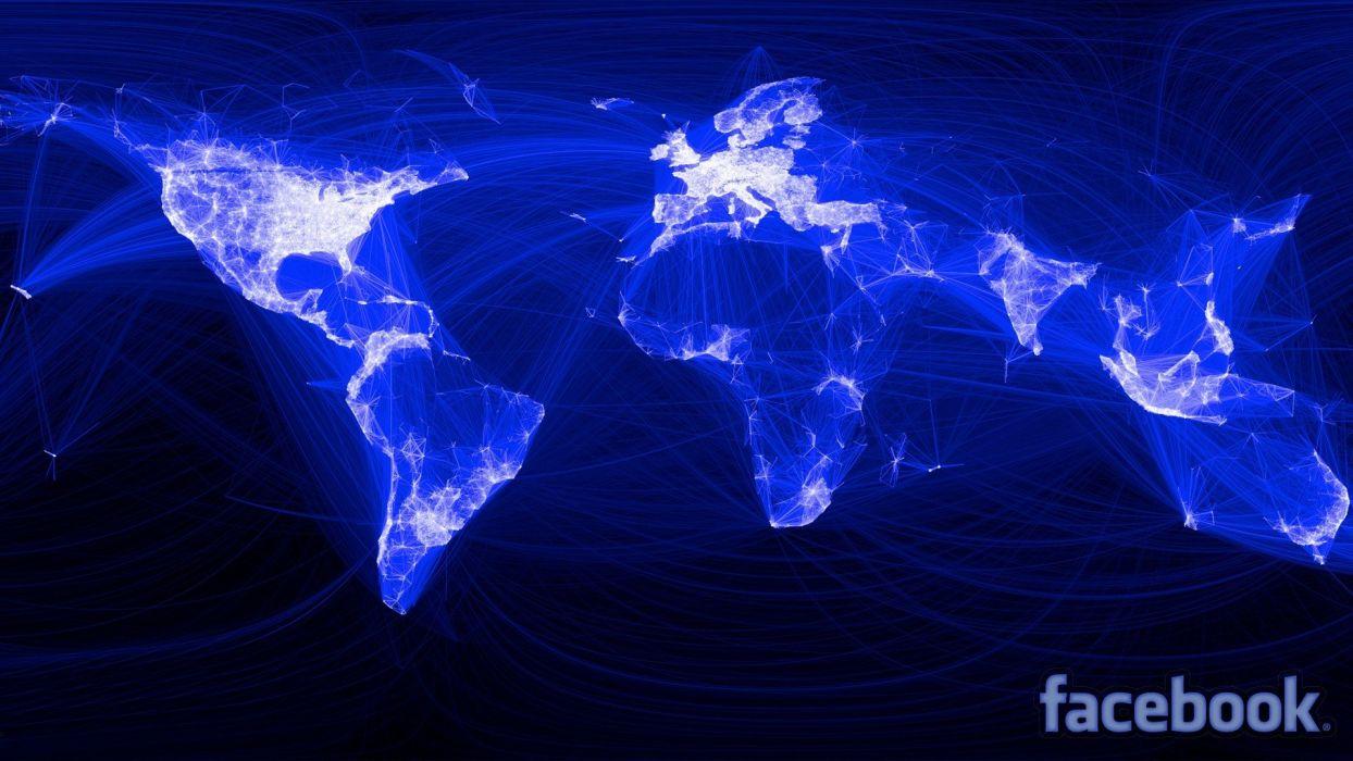 Facebook network wallpaper