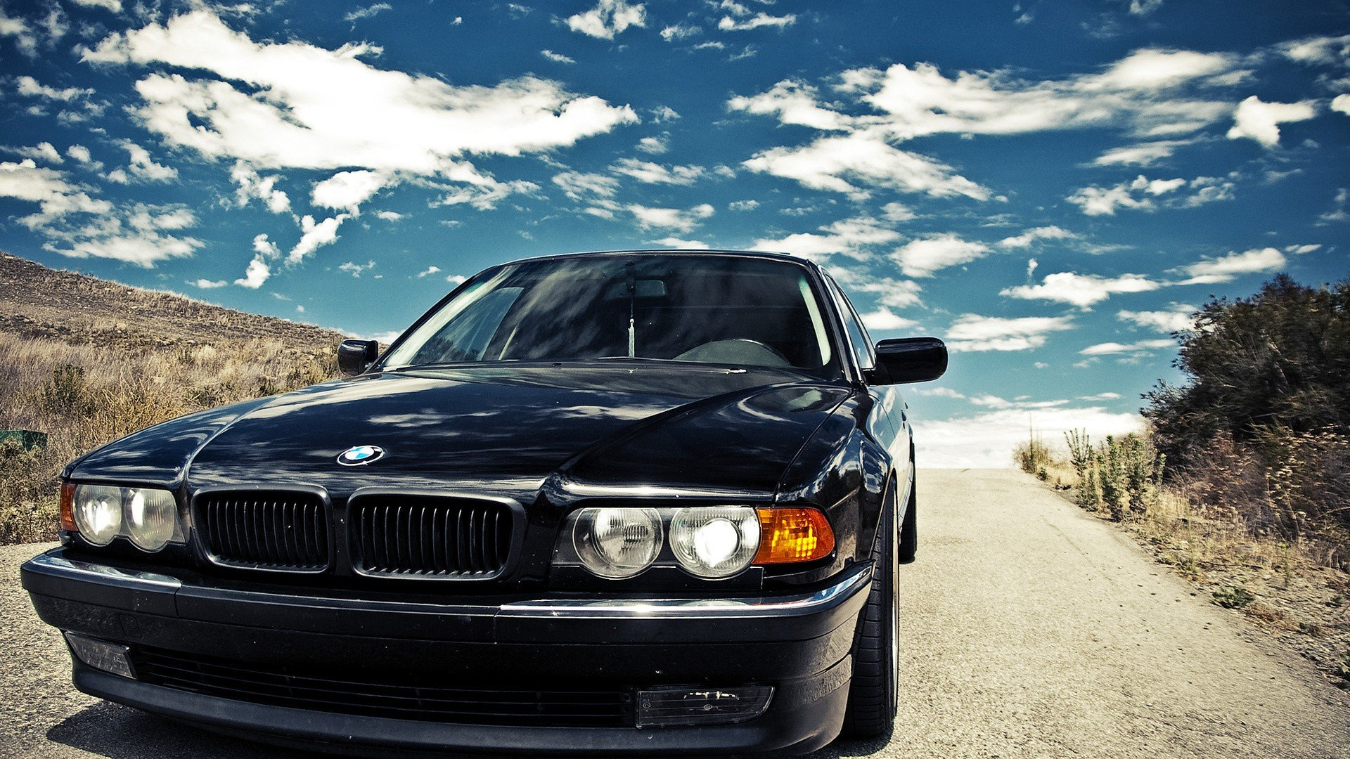 Bmw Black Cars Bmw E38 Wallpaper 1920x1080 253971 Wallpaperup