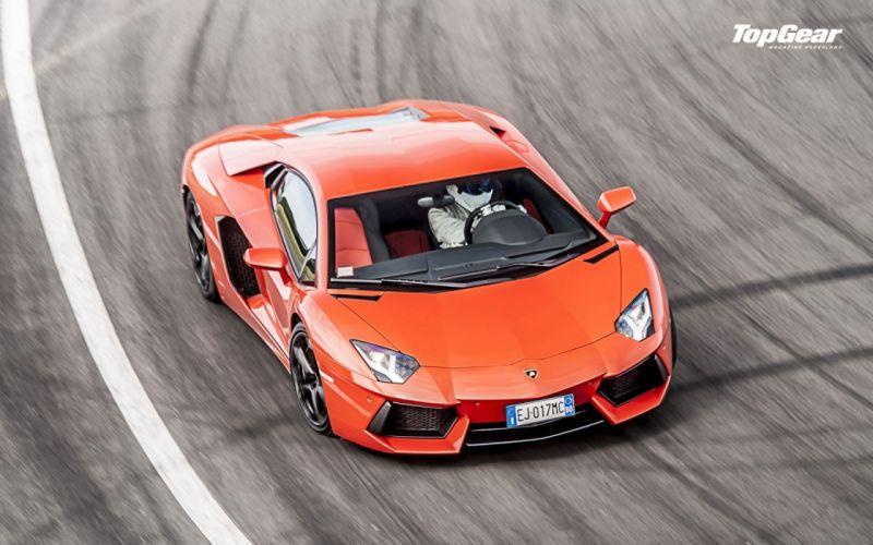 cars Top Gear Lambo Lamborghini Aventador wallpaper