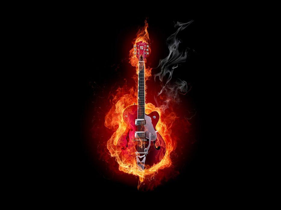 guitars black background wallpaper