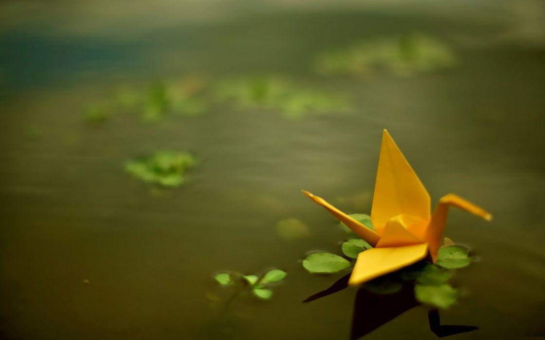 water origami wallpaper