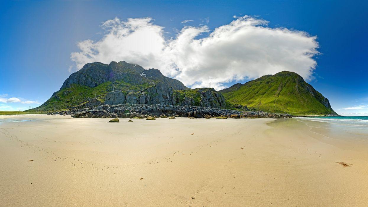 mountains islands beaches wallpaper