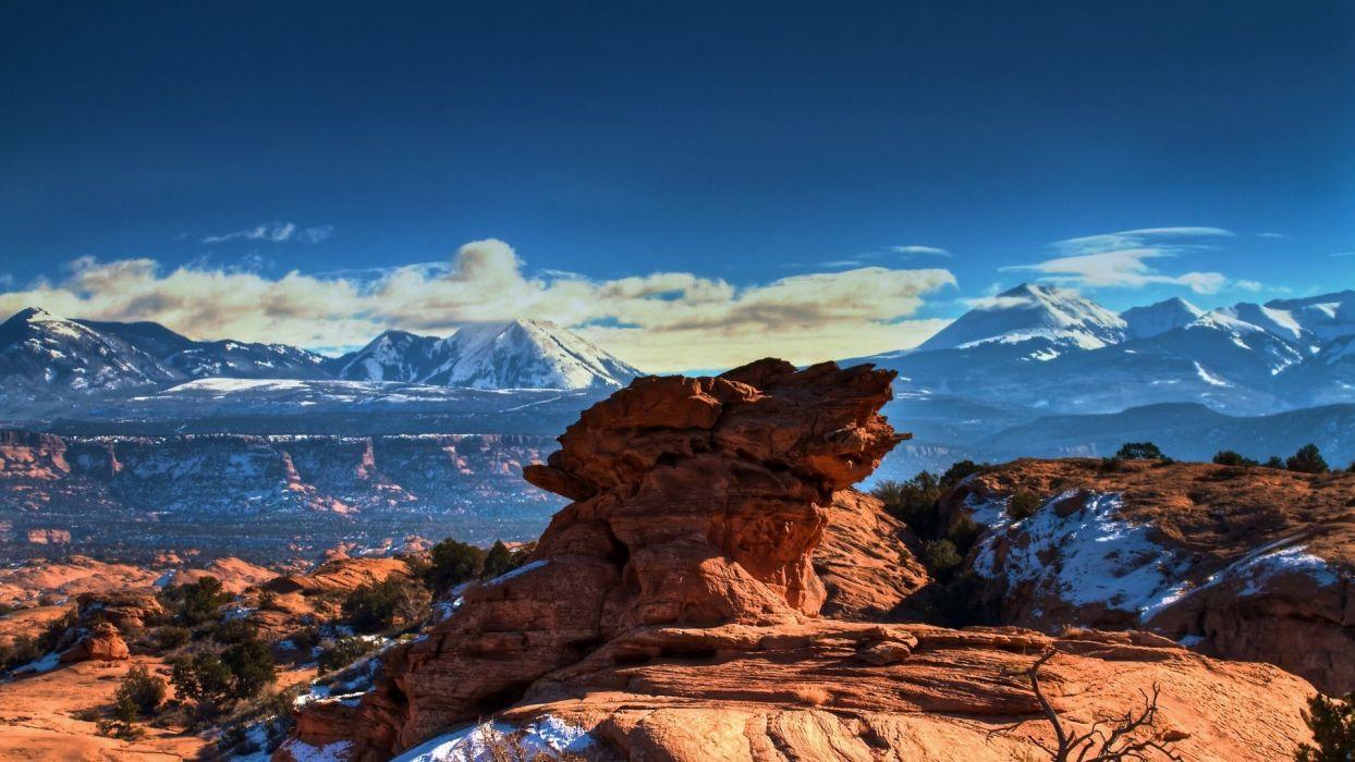 mountains USA Utah moab wallpaper