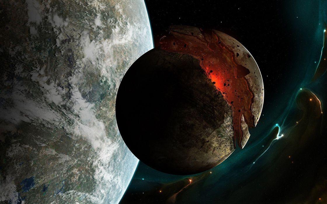 Moon space wallpaper