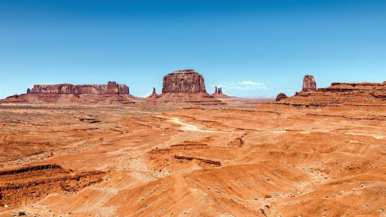 landscapes nature deserts rocks USA Arizona Utah Monument Valley wallpaper