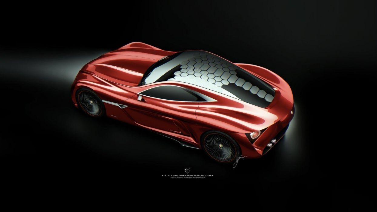 cars Alfa Romeo concept art sports cars wallpaper