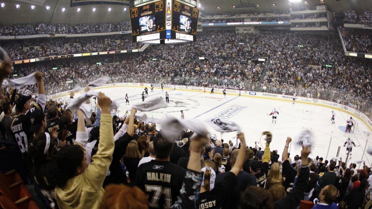 NHL ice hockey Pittsburgh Penguins Ottawa Senators wallpaper