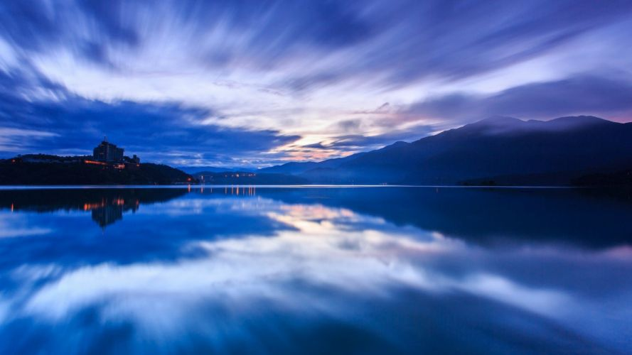 water blue mountains landscapes nature lakes wallpaper