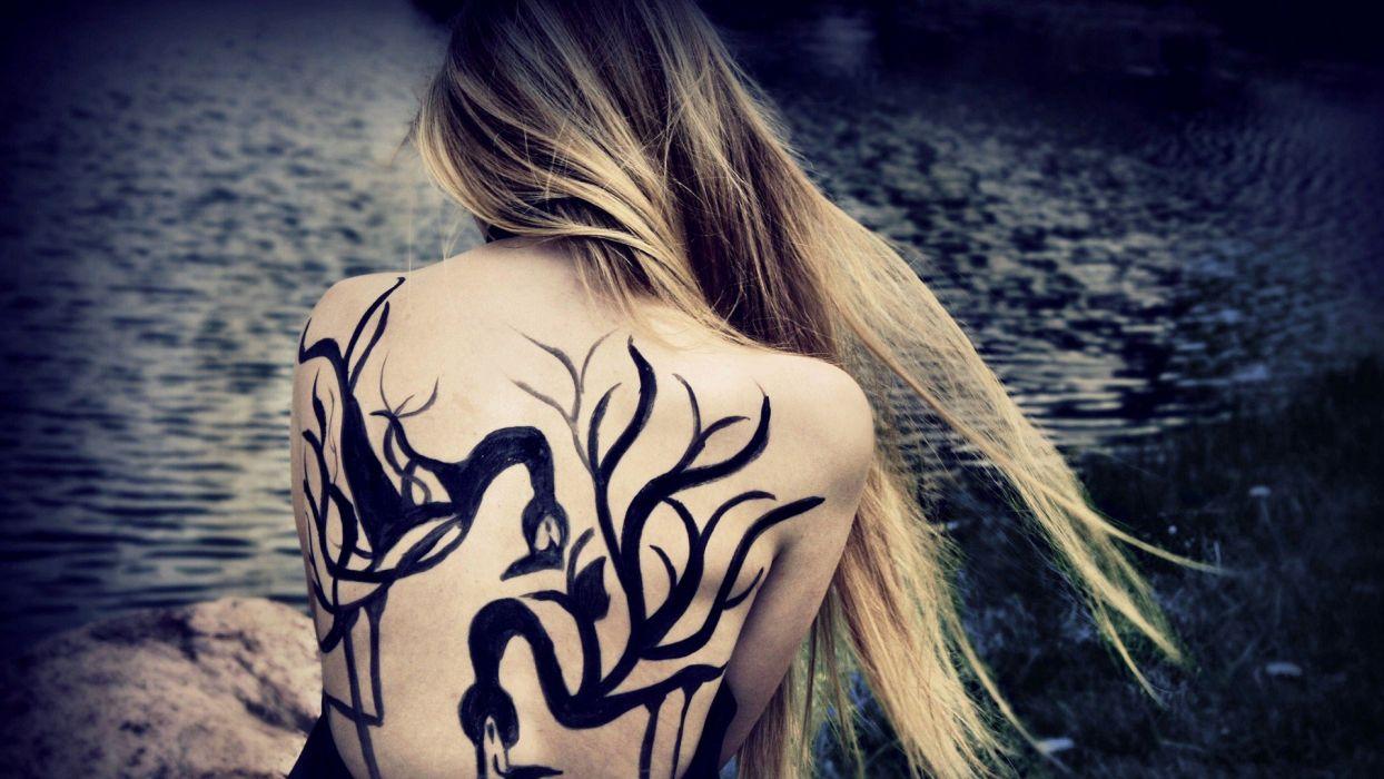 tattoos women birds wallpaper