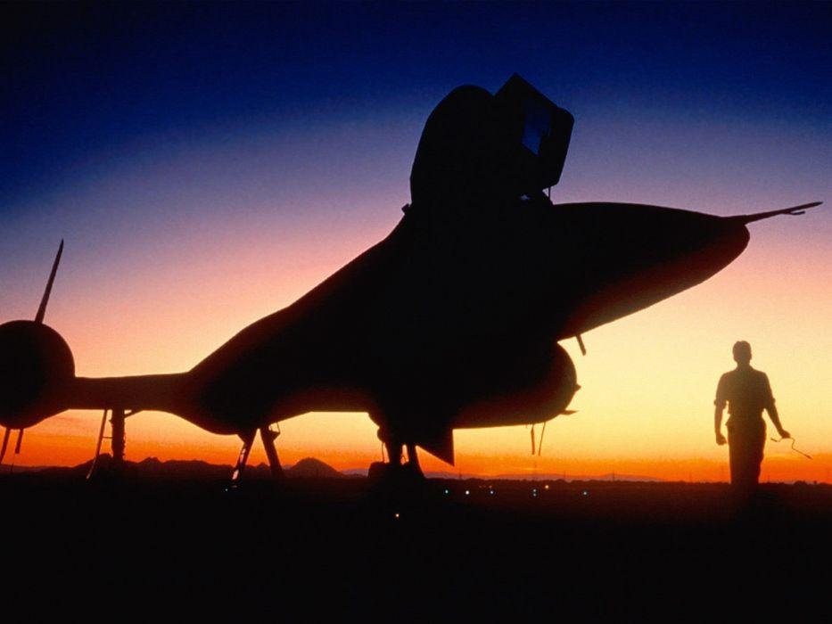 sunset aircraft military Pilot SR-71 Blackbird wallpaper