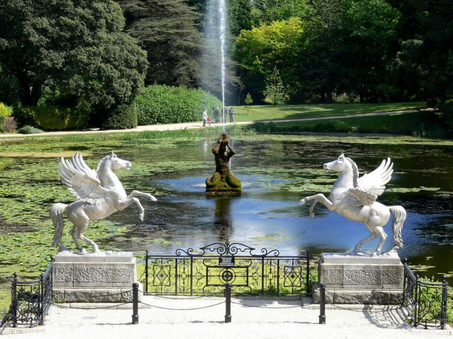 fountains pegasus lakes wallpaper