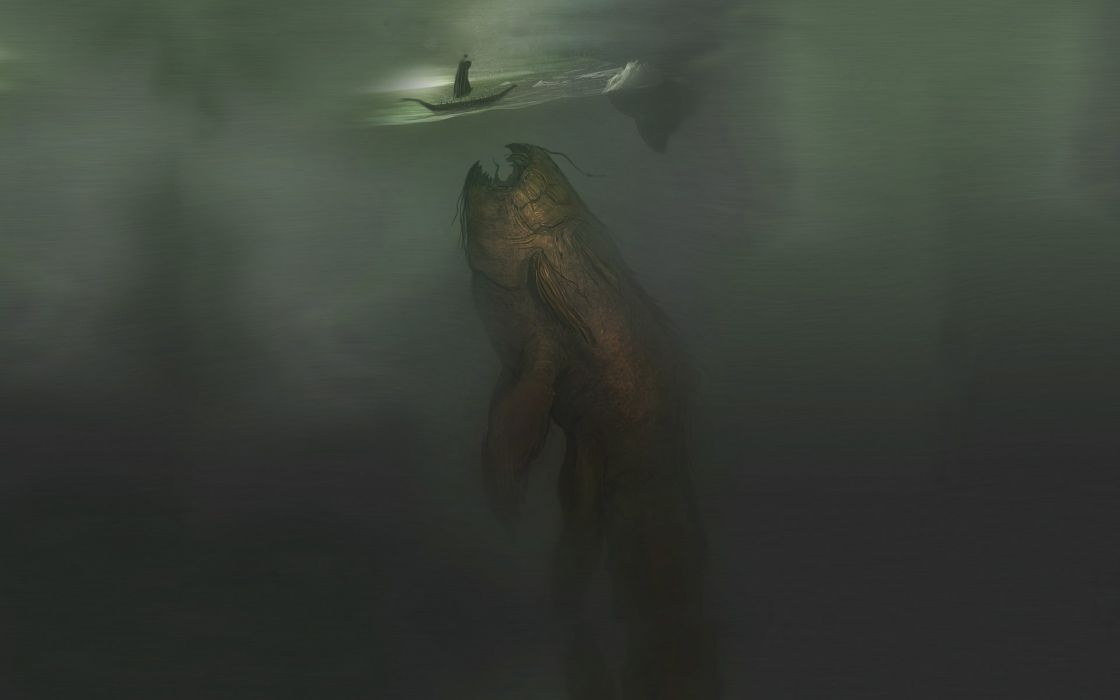 fish Vikings fantasy art nom underwater wallpaper