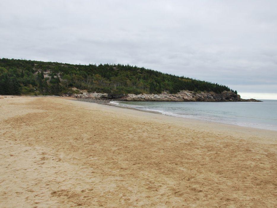 landscapes sand National Park Acadia beaches wallpaper