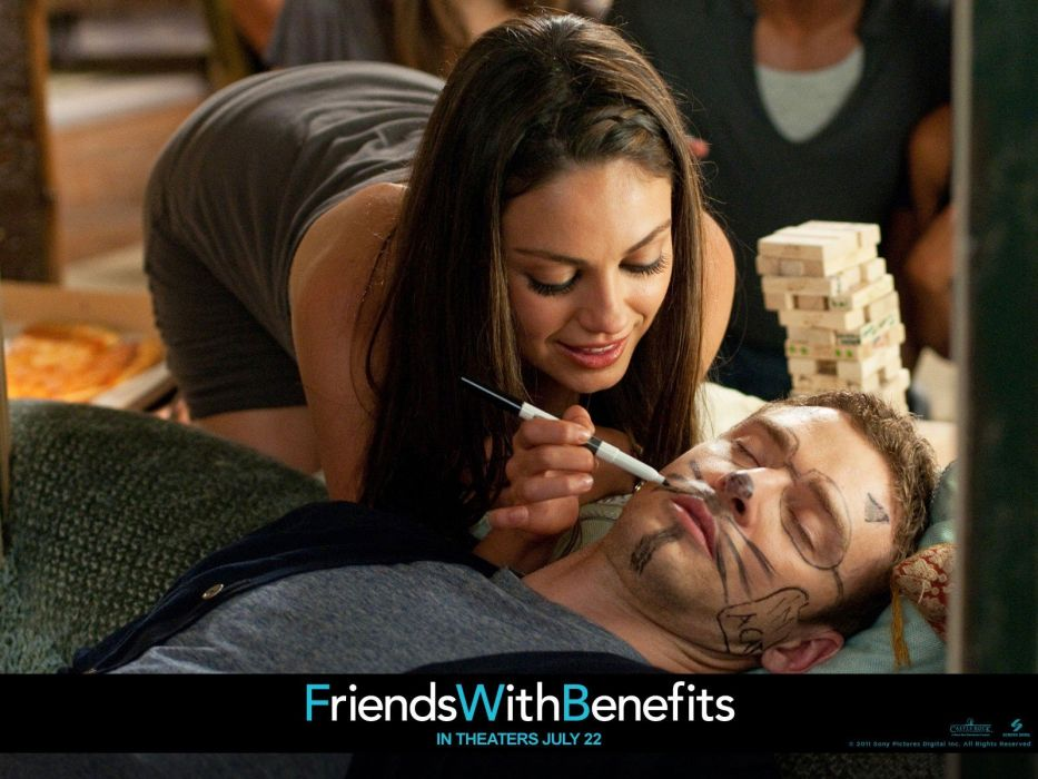 Mila Kunis movies Justin Timberlake Friends with Benefits wallpaper