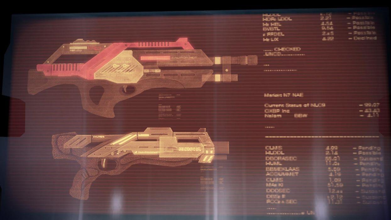 guns Mass Effect weapons wallpaper