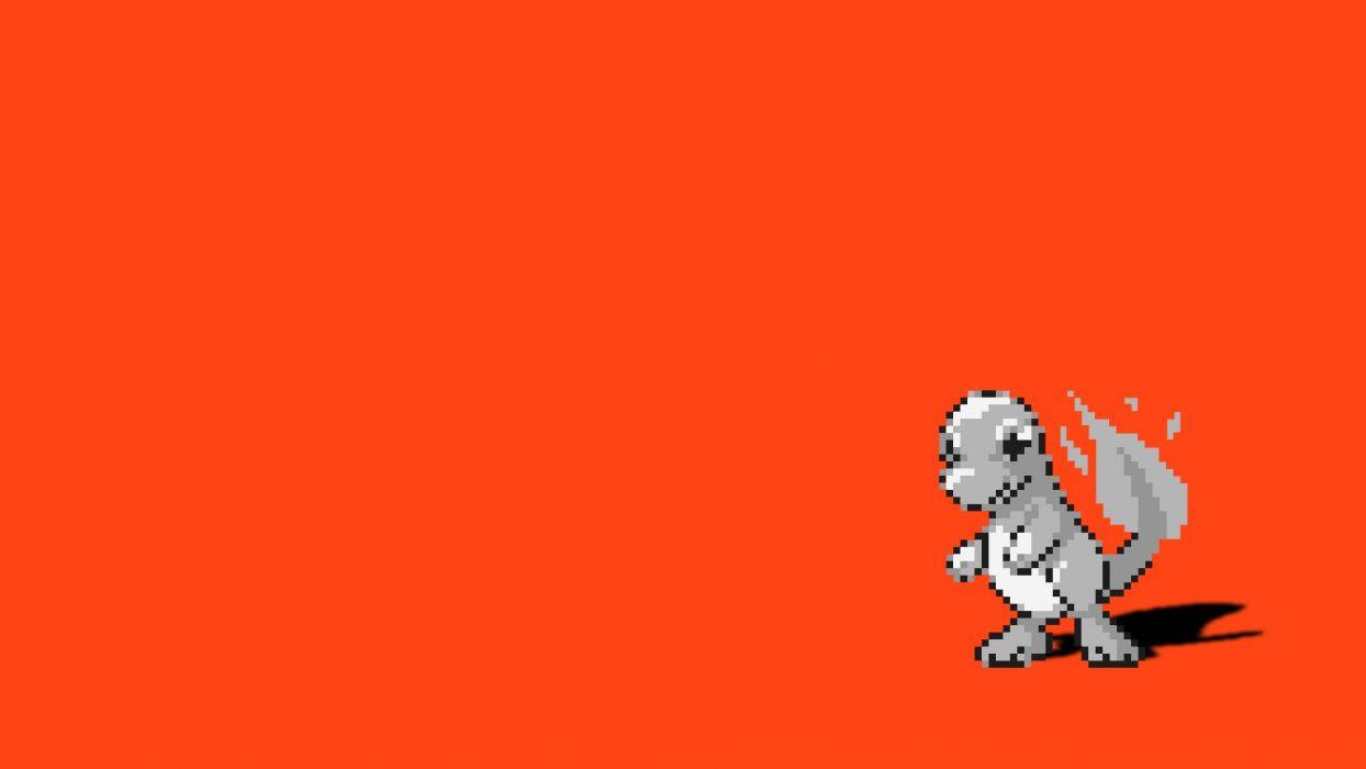 Pokemon Simple Background Charmander Red Background