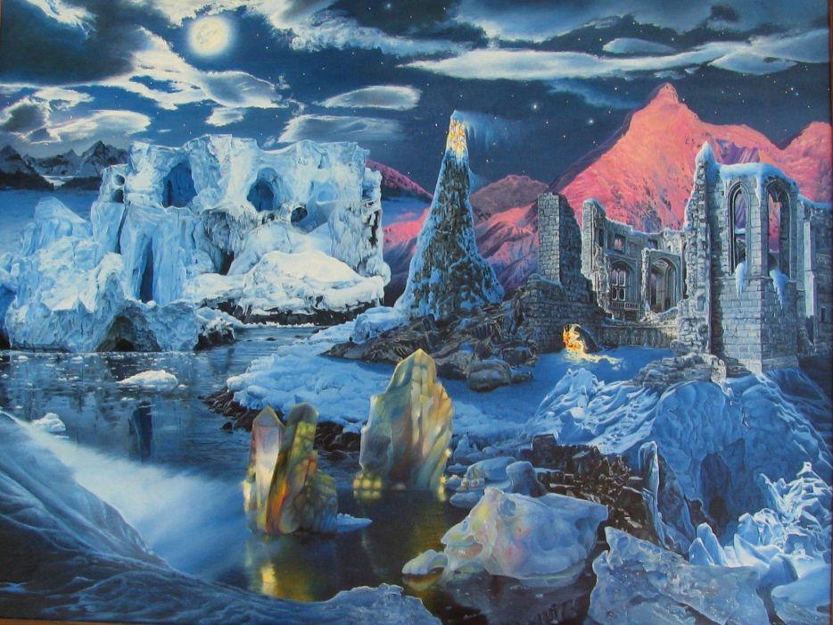 artwork fictional landscapes James McCarthy wallpaper
