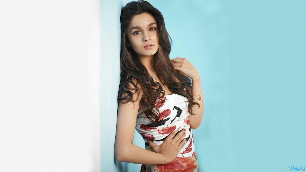 brunettes women indian girls Bollywood actress photo shoot Alia Bhatt models wallpaper