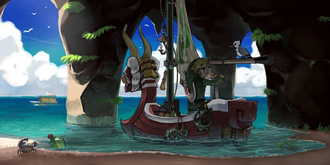 Ocean Link Boats Crabs The Legend Of Zelda The Wind Waker